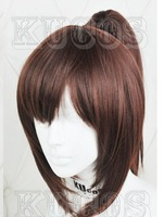 Attack on Titan ellen Free!  Sasha Blouse lolita punk girls Dark Brown Cosplay Wig