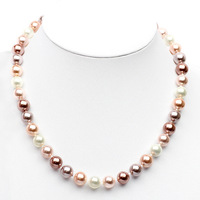 free shipping+Natural tridacna elegant women's beads necklace fashion necklaces for women 2013 high quality
