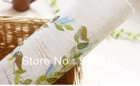 10PC 20*20cm The olive branch bird Hand Painting Dyeing Natural Cotton Linen Canvas Handmade DIY Patchwork Fabric Mix Order
