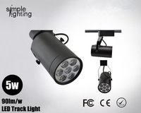 Free shipping Led modern lighting 5w spotlight wall track light for shop jewelry showcase lamp
