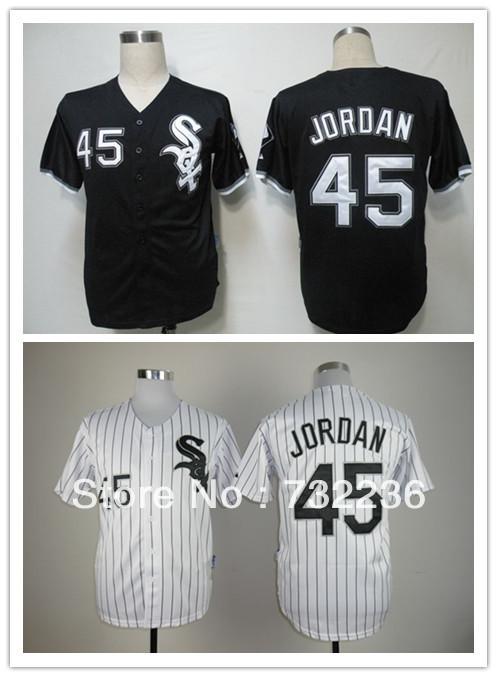 hot sale Free Shipping Chicago White Sox #45 Michael Jordan Men's Baseball Jerseys cheap good quality size M-3XL(China (Mainland))