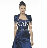 Navy Blue Evening Wraps and Jackets Bridal Bolero with Sleeves Wedding Jackets Latest J095