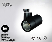 Free shipping Led modern lighting 7w spotlight wall track COB light for shop jewelry showcase lamp