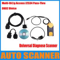 2013 Top-Rated Universal Diagnose Scanner Multi-Diag Access J2534 Pass Thru OBD2 Device multi-di@g scanenr