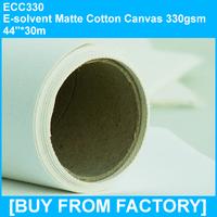 "Professional Eco-solvent Matte Cotton Inkjet Canvas 330gsm 44""*30M"
