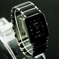 1PC New Black Fashion Luxury Men Women Teenagers Unisex Quartz Wrist Watches, Xmas Gifts, Free Shipping