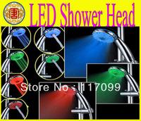 Romantic Bathroom LED Temperature Sensor Shower ,LED Shower head RGB Adjustable Color changing ,3 Mode A21