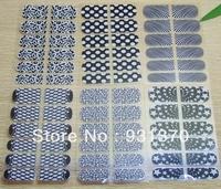Free shipping Nail sticker nail foil sticker mixed 16 styles for nai Art  Wholesales(12pieces/set)