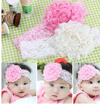 hot sale wholesale 10pcs/lot fashion lace Beautiful Headband hairband Baby Girls flowers headbands,kids' hair accessories