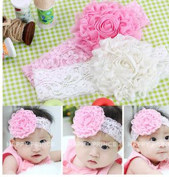 hot sale wholesale 10pcs/lot fashion lace Beautiful Headband hairband Baby Girls flowers headbands,kids' hair accessories