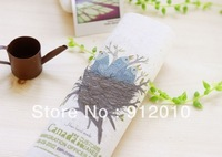 10PC 20*20cm Birds, nest  Hand Painting Dyeing Natural Cotton Linen Canvas Handmade DIY Patchwork Fabric Mix Order