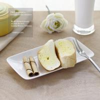 Hety . puddles rectangular dessert plate dish ceramic whitest slitless plate rectangular plate
