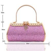 Free shipping Fashion 2013 evening bag bag wedding gift bridal bag bridesmaid bag banquet bag with diamond pink lovely bag