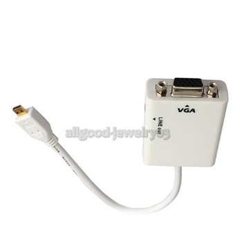 e#a1 HD 1080P Micro HDMI to VGA Cable For Computer DVD Mobile Phone Media Player