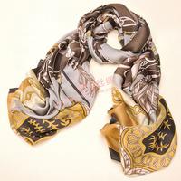 180X66CM LUXURY WOMEN 100% SILK SCARF WRAP BRANDED DESIGN SCARVES SILK 2013 Winter Autumn long scarf  GIFT HOT SELLING