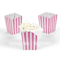 Free Shipping 2400 x  16 colors  YIWU polka dots Striped popcorn favor boxes POPCORN Snack Boxes/Tubs/Containers Bag Bucket