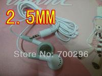 Free shipping New Fashion 100pcs/lot 2.5mm cute cartoon earphone headphone headset for mp3 mp4 CD IPHONE  3G 4G 5G