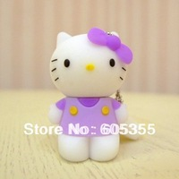 Free shipping 2GB 4GB 8GB 16GB 32GB 64GB Hello kitty model usb Flash Drive Disk, Promotional Gifts, usb flash pen drive