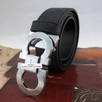 Factory wholesale men's genuine cow leather Smooth Buckle belt brand designer Belts for men with original gift box