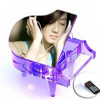 Gift crystal piano fashion gift birthday gift crystal mp3 music box