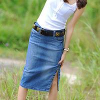 Newest Fashion Women's Denim Skirt, All-match Ladies' Casual Skirts Jeans Skirts Denim Wear Free Shipping