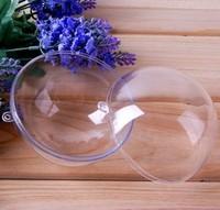 Factory Wholesale Diameter 9cm Transparent Hanging Christmas Ball Wedding & Event Decoration Clear Plastic Ball