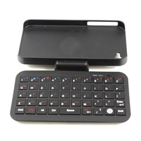 10pcs New Sliding Bluetooth Wireless Keyboard Hardshell Case for iphone 4 4S 4G 4GS JS0528 Free Shipping