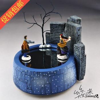 Free shipping Meters christmas new year gift magnet crystal ball music box music box birthday gift