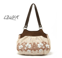Free shipping!!!2013 Hot-selling Oxford cloth casual simple and elegant flower women's handbag MST13020
