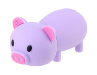 Free shipping 4GB 8GB 16GB 32GB Cute Pig Shape USB Flash Drive (Purple)