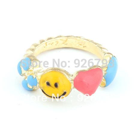 Wholesale 12pcs/lot Classic fashion Sweet Clover smile rings(China (Mainland))