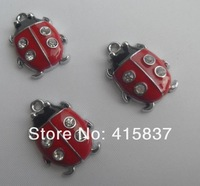 free shipping 50pcs Ladybug Hang Pendant Charm zinc alloy DIY accessory  fit necklac