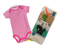Retail Hot sale High quality 3M-24M 5pcs Long & Short Sleeve Winggle-in baby Bodysuit Infant Romper baby jumpsuit,1pack/lot-A001