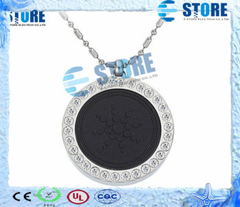 2 Pcs/lot Fashion Quantum Scalar Energy Pendant Crystal Health Necklaces with Gift Box Two Colors, Free Shipping