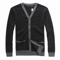 Free Shipping Spring and Autumn Men's Sweaters Long Sleeve Cardigan Brand Men Sweater size S-XXL