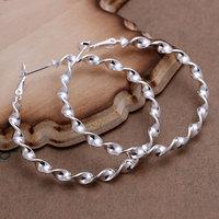 E148 Wholesale 925 silver earrings, 925 silver fashion jewelry, Waves Line Earrings