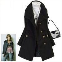 Free shipping 2013 classic  handsome button uniform  dust coat Trench