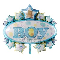Free Shipping Large boy canopy aluminum foil aluminum balloon party supplies child birthday party balloon