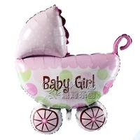 Free Shipping Girl baby car aluminum foil balloon party supplies child birthday party balloon helium balloon