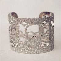 New Punk Silver Plated Bangles Jewelry Women Metal Skull Hollow-Out Bracelets Unique Design Bangle Bracelet Fashion Bracelet