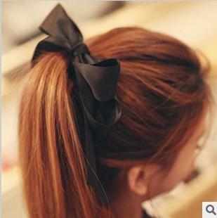 New 2014 Fashion Boutique Bows Hair Accessories Wholesale scrunchy Elastics For Hair Girls Headwear Hair Band F057(China (Mainland))