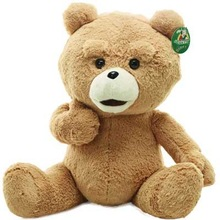 "23.6""  60cm Teddy Bear Ted Plush Dolls Man's Ted Bear Stuffed Plush Toys Christmas/Birthday Gift Valentine Gift(China (Mainland))"