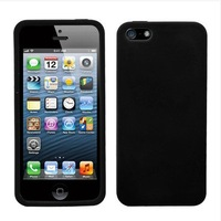 For Apple iPhone 5 Rubber SILICONE Soft Gel Skin Case Phone Cover Black
