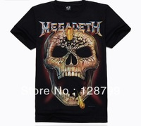Free shipping, High Quality Man's 100% Cotton short sleeve T-shirt 3D printing. Print Skull shirt NZ07016