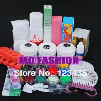 Free shipping new hot sale Acrylic Powder Liquid KITS UV NAIL ART TIPS Set A003