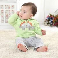 2013 children's clothing autumn baby sweatshirt male female child outerwear baby cardigan top child 100% cotton clothes