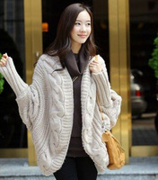 Free shipping 2013 twisted elegant fashion batwing sleeve cardigan 40006