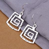 925 silver earrings 925 sterling silver fashion jewelry earrings beautiful earrings high quality Square screw earrings