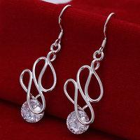 925 silver earrings 925 sterling silver fashion jewelry earrings beautiful earrings high quality Twisted Stone Earrings