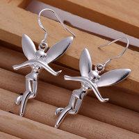 925 silver earrings 925 sterling silver fashion jewelry earrings beautiful earrings high quality Angle Earrings